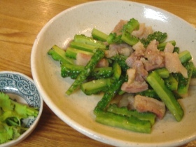 豚肉と苦瓜の含め煮