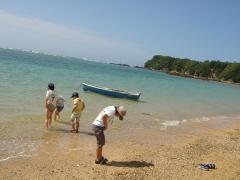 海の色が沖縄です